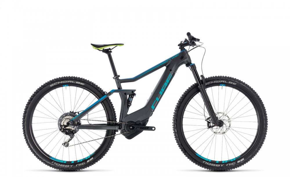 Cube Stereo Hybrid 120 HPC Race 500 27.5'' / 29'' Carbon Pedelec E-Bike MTB grau/blau 2018