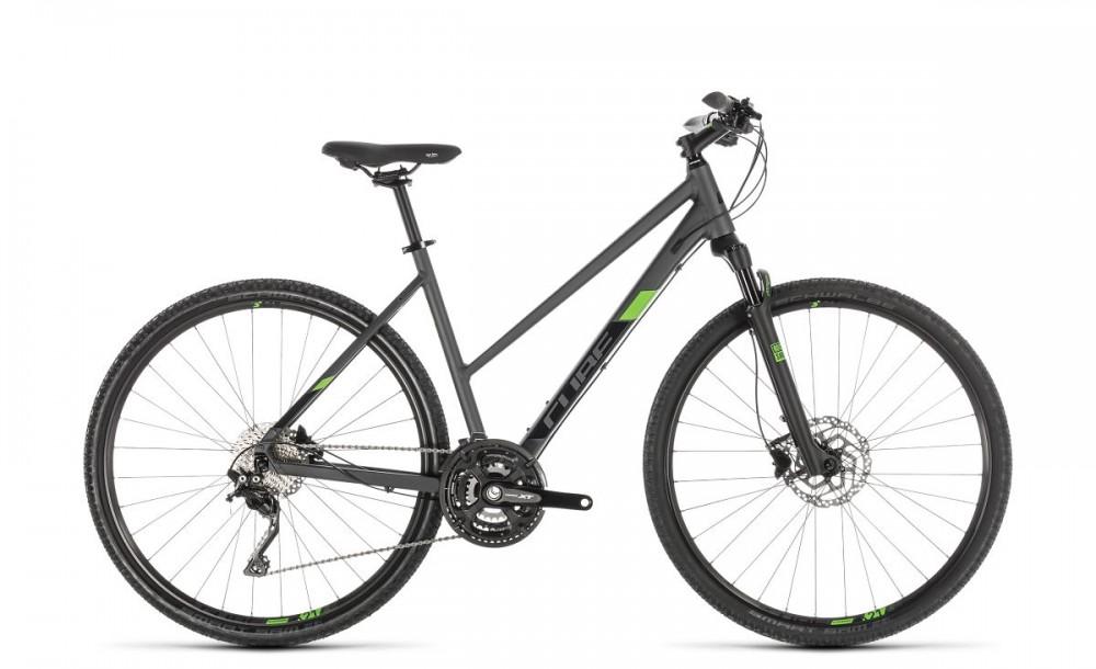 Cube Cross Pro Damen Cyclocross Fahrrad grau/grün 2019