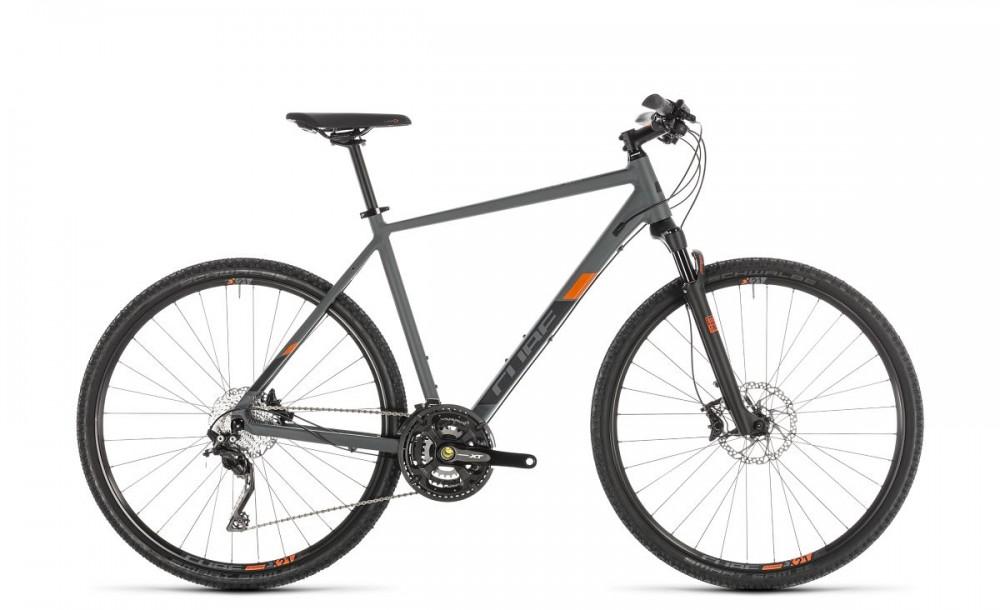 Cube Cross Exc Cyclocross Fahrrad grau/orange 2019