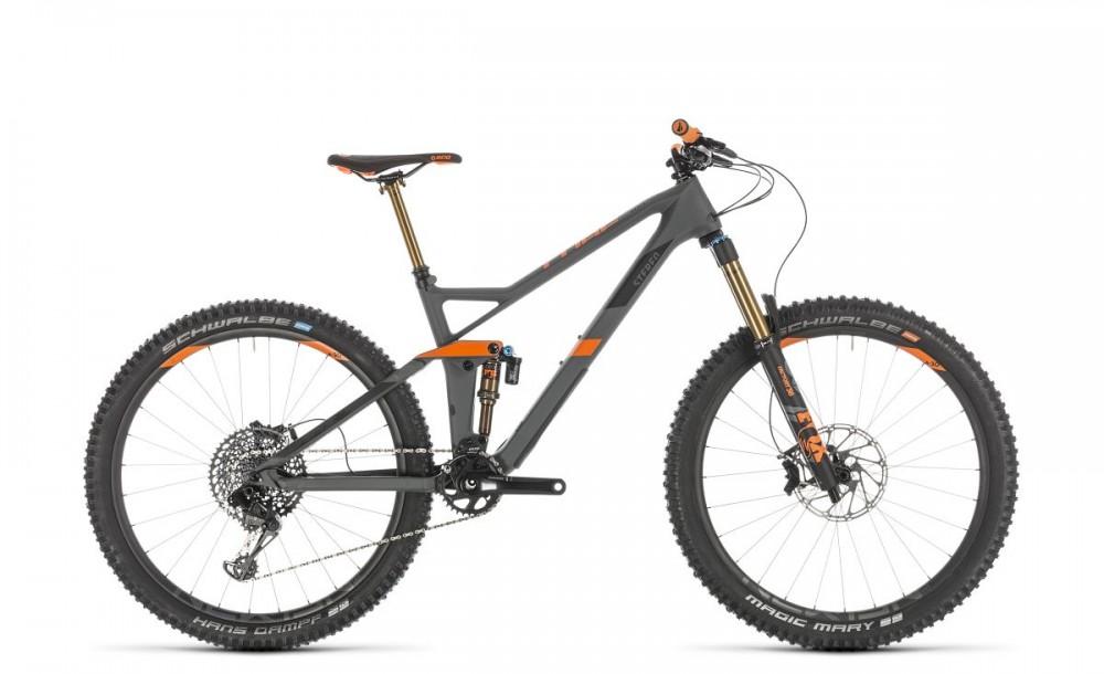 Cube Stereo 140 HPC TM 27.5'' Carbon MTB Fahrrad grau/orange 2019