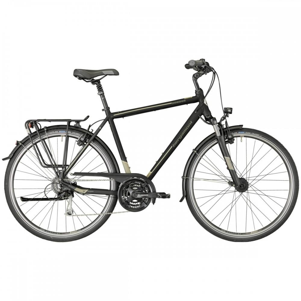 Bergamont Horizon 5.0 Herren Trekking Fahrrad schwarz/grau 2018