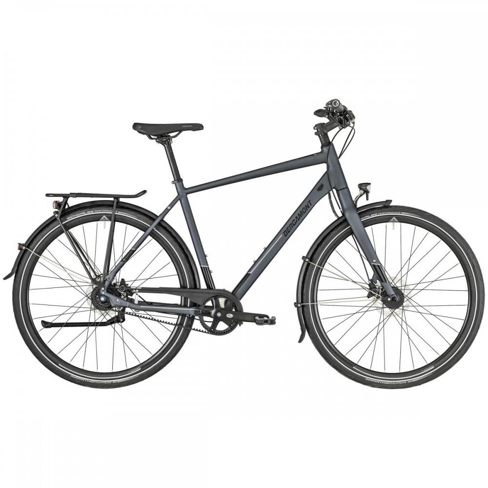 Bergamont Vitess N8 Belt Trekking Fahrrad grau/schwarz 2019