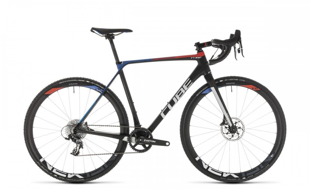 Cube Cross Race C:62 SL Teamline Carbon Cyclocross Fahrrad schwarz/rot/blau 2019