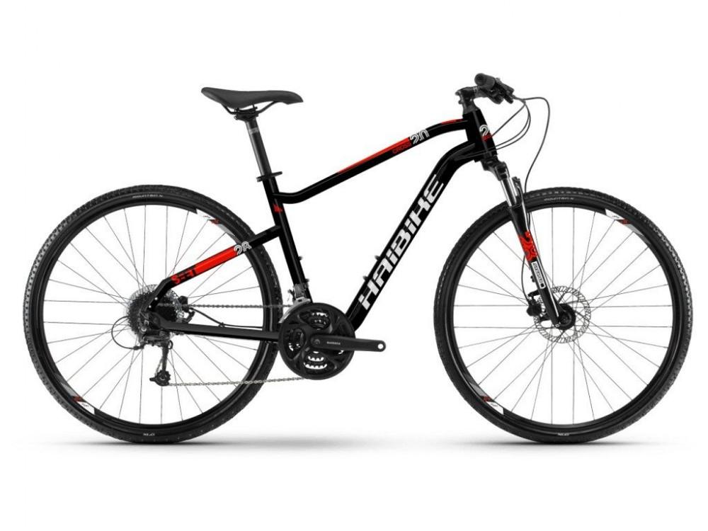 Haibike Seet Cross 2.0 Cross Trekking Fahrrad schwarz/weiß/rot 2019