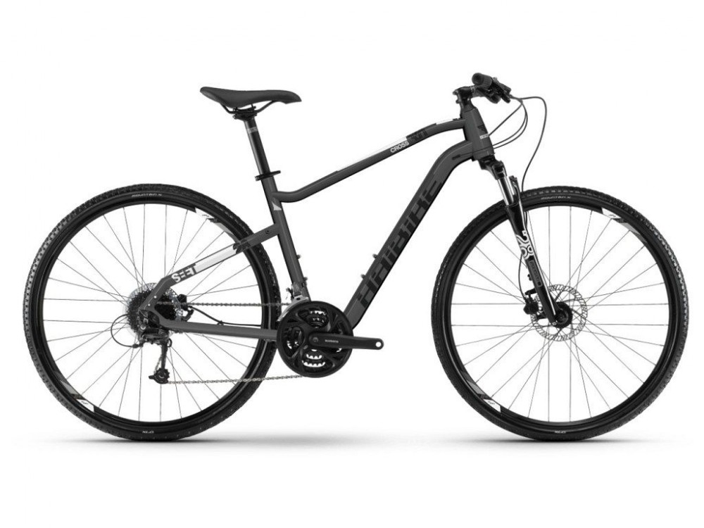 Haibike Seet Cross 3.0 Cross Trekking Fahrrad grau/schwarz/weiß 2019