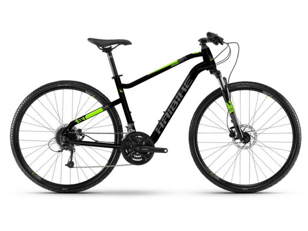 Haibike Seet Cross 4.0 Cross Trekking Fahrrad schwarz/grau/grün 2019