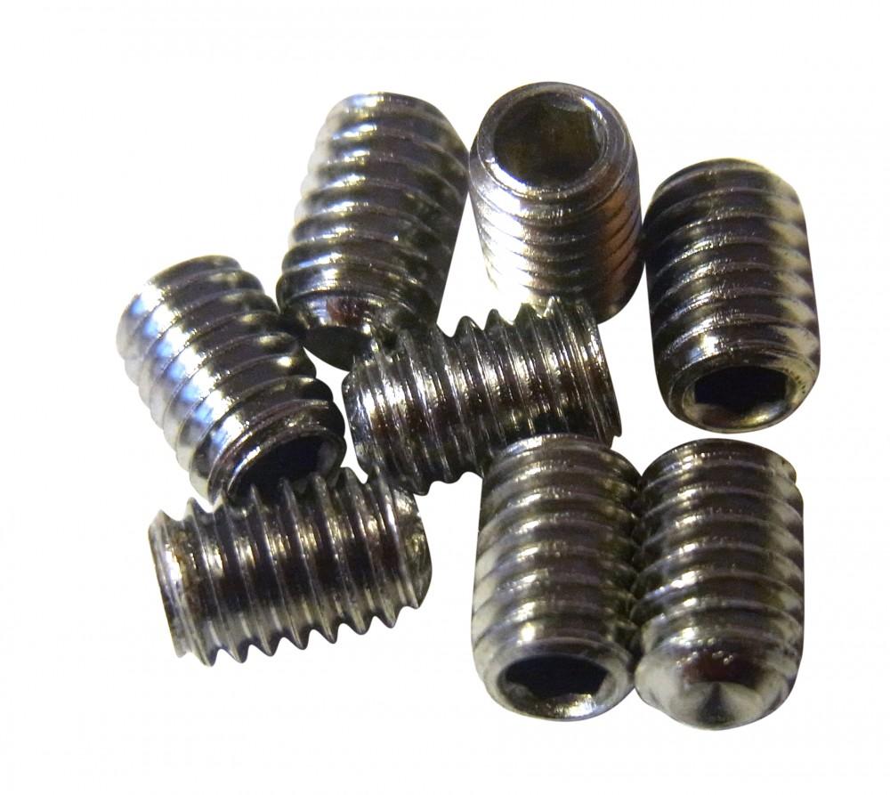 NC-17 Pedal Pins inner M4 x 6mm silber