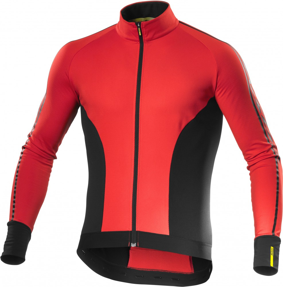 mavic cosmic elite thermo winter fahrrad trikot rot. Black Bedroom Furniture Sets. Home Design Ideas