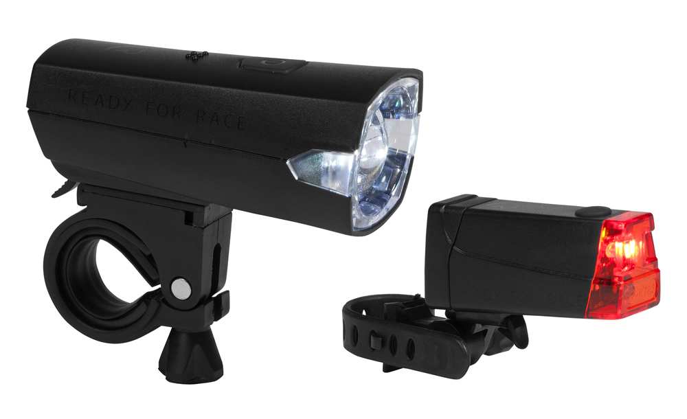 RFR LED Tour 12 Fahrrad Beleuchtungsset schwarz