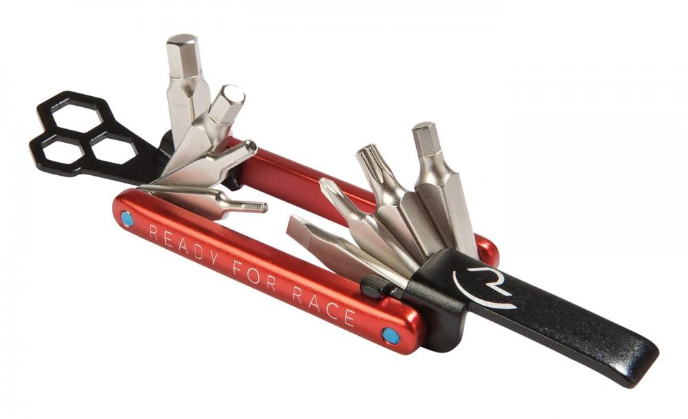 RFR Multi Tool 12 Fahrrad Mini Werkzeug rot