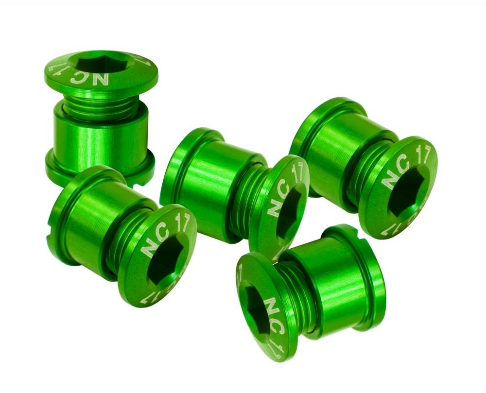 NC-17 Kettenblattschraube 5 Loch Set grün