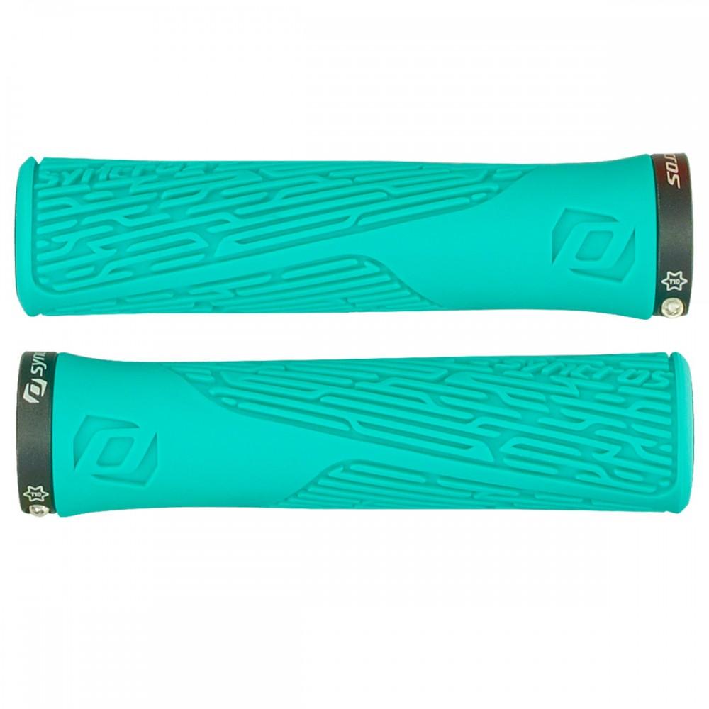 Syncros Pro Lock-On Damen Fahrrad Schraubgriffe türkis blau
