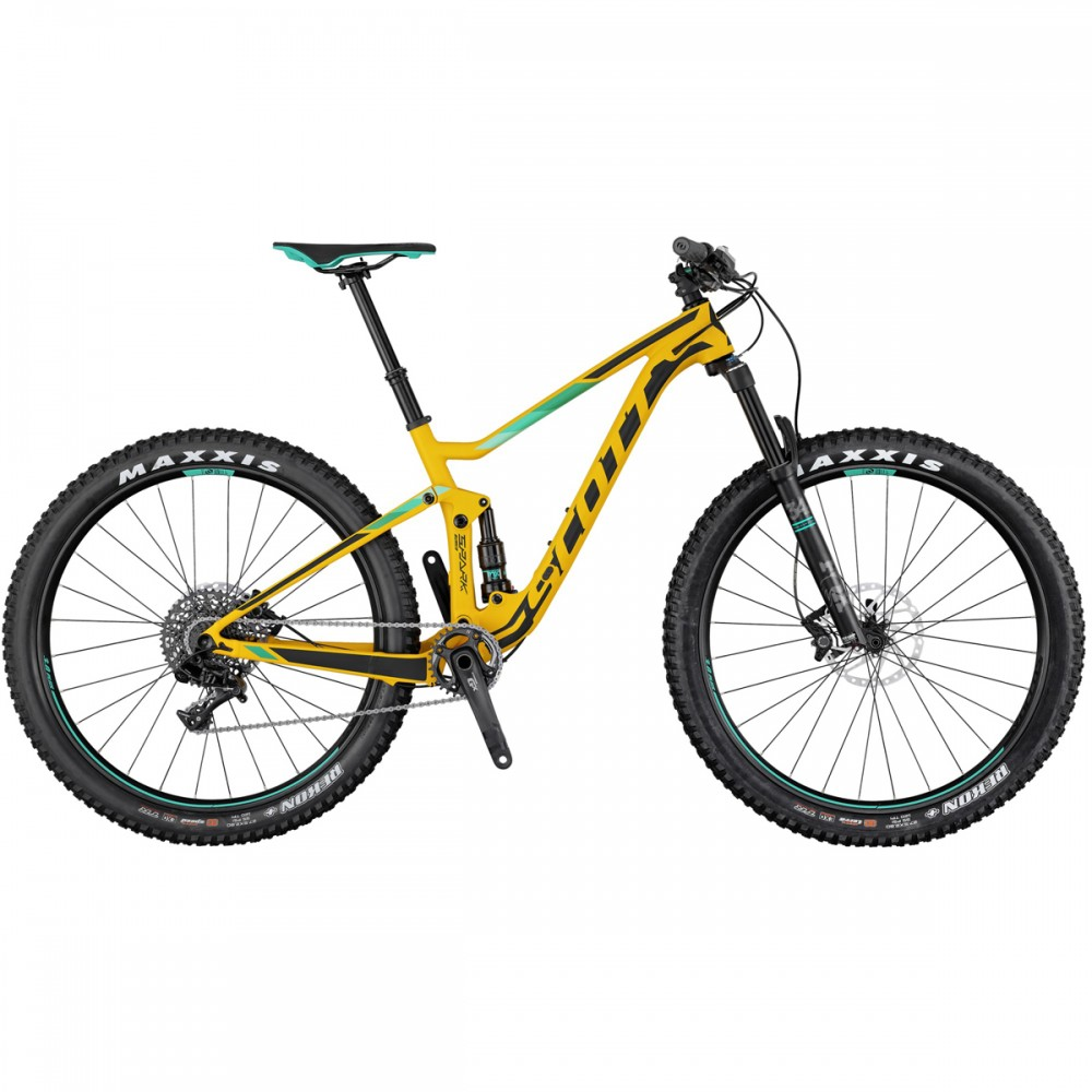 Scott Spark 720 Plus 27.5'' MTB Fahrrad gelb/schwarz/türkis 2017