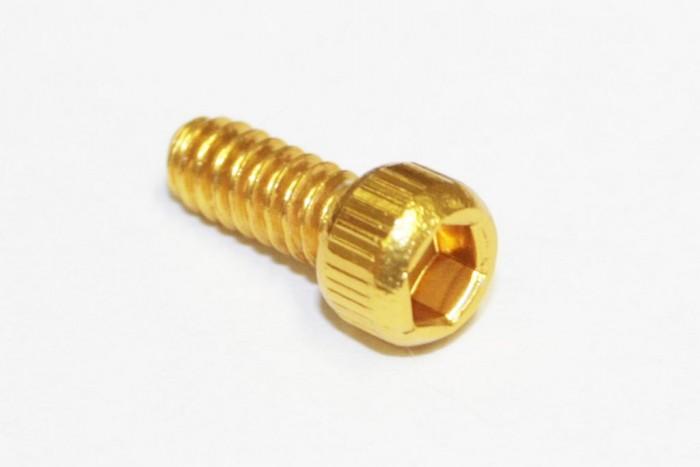 Reverse 1x Pedal Pin US-Size Alu goldfarben