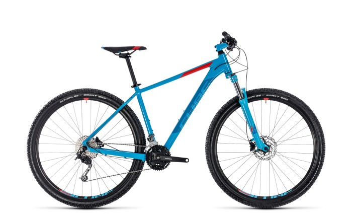 Cube Aim SL 27.5'' / 29'' MTB Fahrrad blau/rot 2018