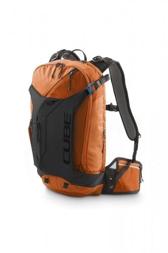 Cube Edge Trail X Action Team Fahrrad Rucksack orange/grau