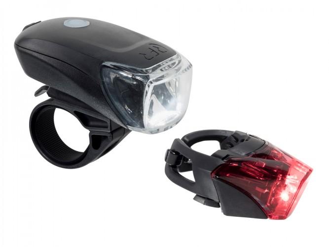 RFR Tour 35 USB Fahrrad Beleuchtungsset schwarz