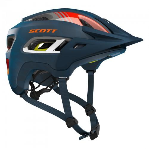 scott stego mtb fahrrad helm blau orange 2019 von top. Black Bedroom Furniture Sets. Home Design Ideas