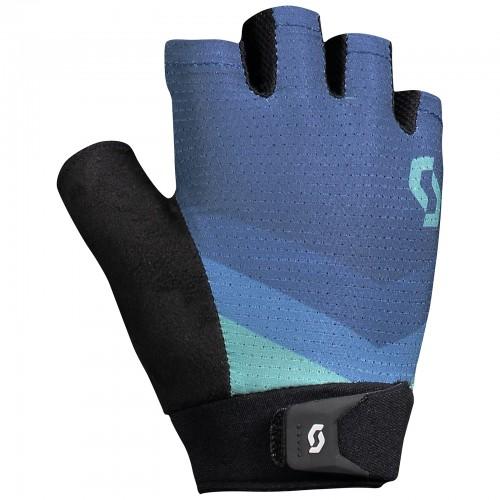 scott essential damen fahrrad handschuhe kurz blau 2018. Black Bedroom Furniture Sets. Home Design Ideas