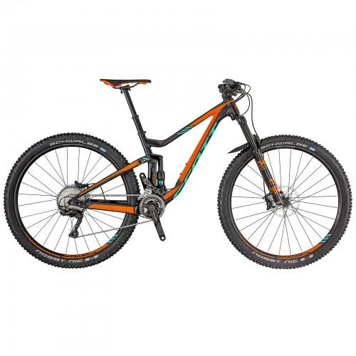 Scott Genius 930 29'' MTB Fahrrad schwarz/orange/türkis 2018