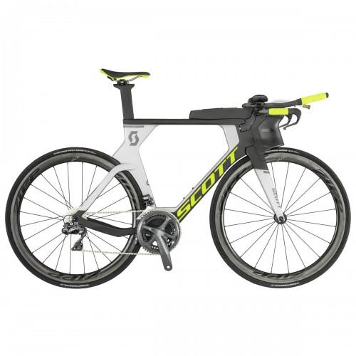 Scott Plasma RC Carbon Triathlon / Zeitfahrrad silberfarben/schwarz/gelb 2019