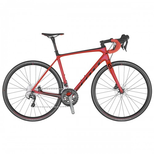 Scott Addict 30 Disc Carbon Rennrad CD 22 Gang rot 2020