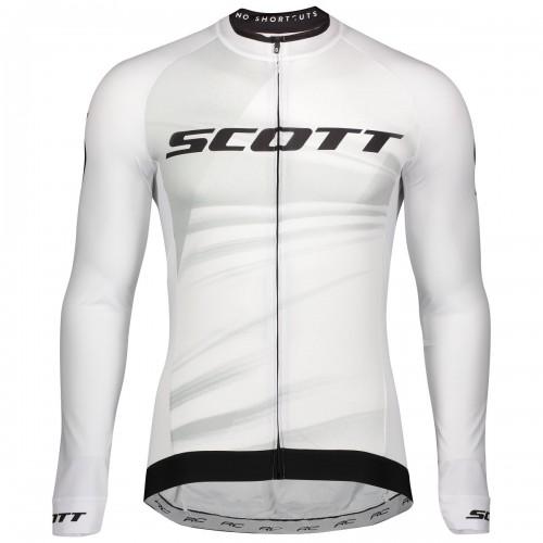 Scott RC Pro Fahrrad Trikot lang weiß/schwarz 2020