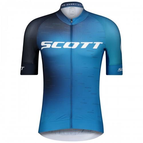 Scott RC Pro Fahrrad Trikot kurz blau/weiß 2021