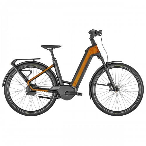 Bergamont E-Ville Pro Belt Premium Pedelec E-Bike Trekking Fahrrad schwarz/orange 2021