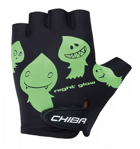 Chiba Cool Kids Kinder Fahrrad Handschuhe kurz schwarz/grün 2022