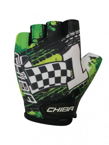 Chiba Kids Kinder Fahrrad Handschuhe kurz grün/schwarz 2021