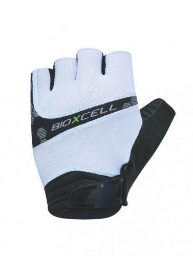 Chiba BioXCell Pro Fahrrad Handschuhe kurz weiß/schwarz 2021
