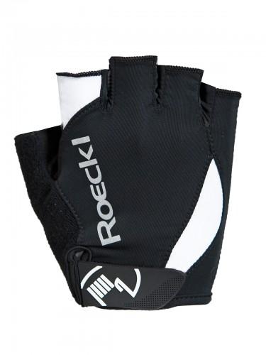 Roeckl Baku Fahrrad Handschuhe kurz schwarz/weiß 2019