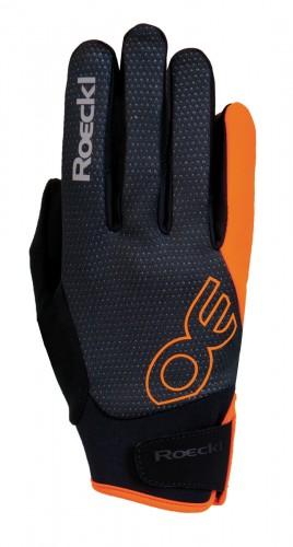 Roeckl Riga Winter Fahrrad Handschuhe schwarz/orange 2018