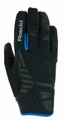 Roeckl Reintal Winter Fahrrad Handschuhe schwarz/blau 2021