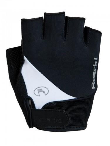 Roeckl Napoli Fahrrad Handschuhe kurz schwarz/weiß 2019