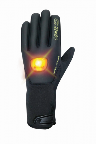 Chiba Roadmaster Winter Fahrrad Handschuhe mit LED Blinkfunktion schwarz 2019