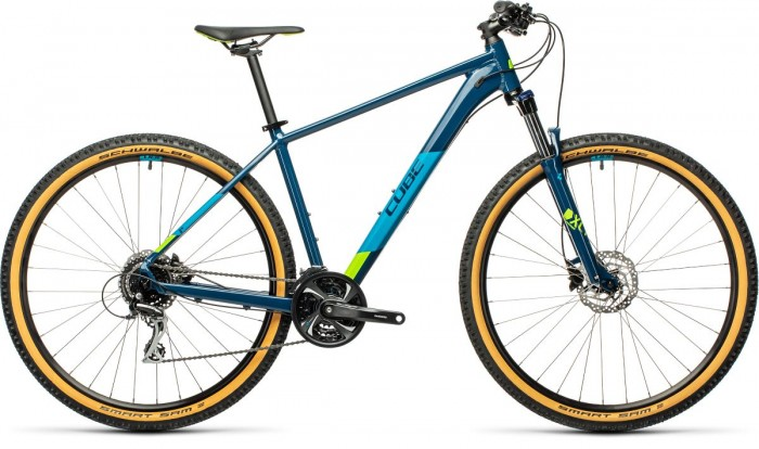 Cube Aim Race 29'' MTB Fahrrad blau/grün 2021