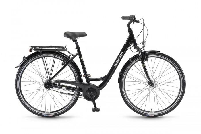 Winora Hollywood Unisex Wave Trekking Fahrrad schwarz 2019
