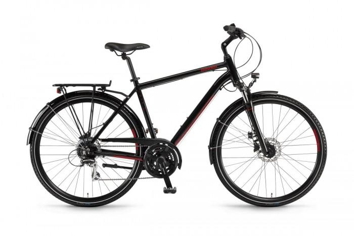 Winora Domingo 24 Disc Trekking Fahrrad schwarz/rot 2020