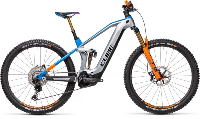 Cube Stereo Hybrid 140 HPC Actionteam Nyon 625 27.5'' / 29'' Carbon Pedelec E-Bike MTB grau/blau 2021