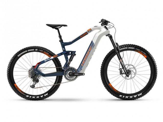 Haibike Xduro AllMtn 5.0 Flyon 27.5'' Carbon Pedelec E-Bike MTB weiß/blau/orange 2021