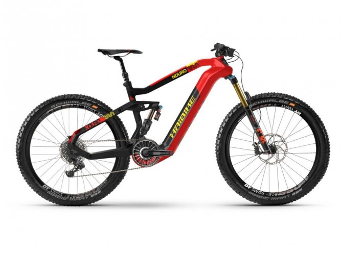 Haibike Xduro Nduro 10.0 Flyon 27.5'' Carbon Pedelec E-Bike MTB schwarz/rot 2021