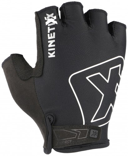 KinetiXx Lou Fahrrad Handschuhe kurz schwarz/weiß 2021