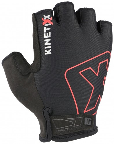 KinetiXx Lou Fahrrad Handschuhe kurz schwarz/rot 2021