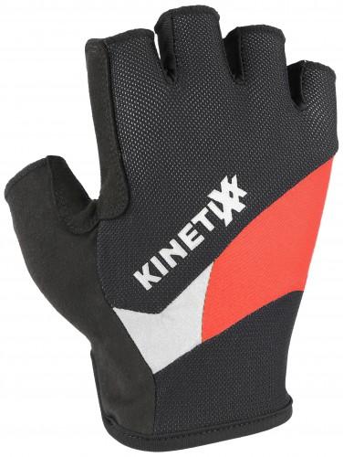 KinetiXx Lano Fahrrad Handschuhe kurz schwarz/rot 2021