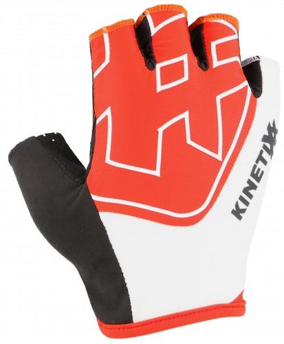 KinetiXx Loreto Fahrrad Handschuhe kurz rot/weiß 2021