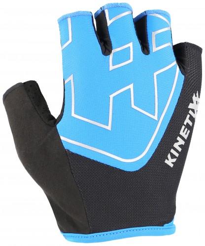 KinetiXx Loreto Fahrrad Handschuhe kurz blau/schwarz 2021