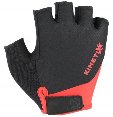 KinetiXx Levi Fahrrad Handschuhe kurz schwarz/rot 2021