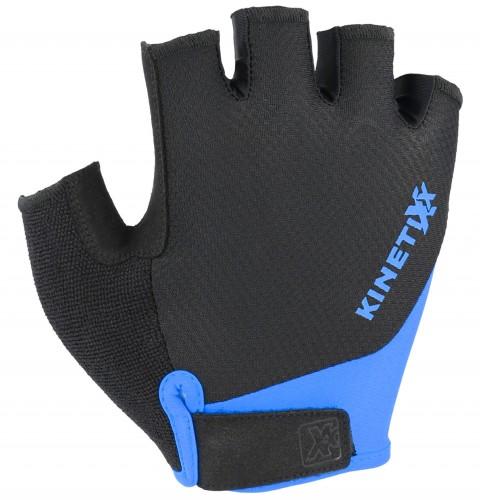 KinetiXx Levi Fahrrad Handschuhe kurz schwarz/blau 2021